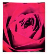 Pop Art Rose Fleece Blanket