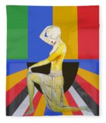 Popart Showgirl 2 Fleece Blanket
