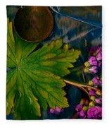 Popart With Fantasy Flowers Fleece Blanket