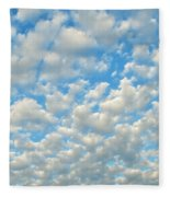 Popcorn Clouds Fleece Blanket