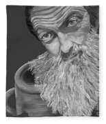 Popcorn Sutton Black And White Transparent - T-shirts Fleece Blanket