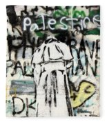 Pope Free Palestine Fleece Blanket