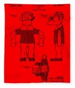 Popeye Doll Patent 1932 In Red Fleece Blanket