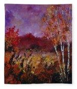Poplars In Autumn  Fleece Blanket