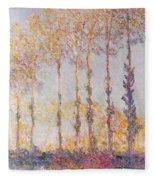 Poplars On The Banks Of The Epte Fleece Blanket