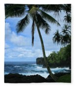 Poponi Ulaino Mokupupu Maui North Shore Hawaii Fleece Blanket