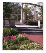 Popp Fountain Brickway Path Fleece Blanket