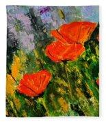 Poppies 107 Fleece Blanket