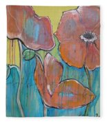 Poppies 3 Fleece Blanket