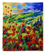 Poppies 78 Fleece Blanket