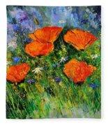 Poppies 79 Fleece Blanket