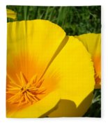 Poppies Art Poppy Flowers 4 Golden Orange California Poppies Fleece Blanket