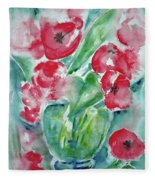 Poppies Celebration Fleece Blanket