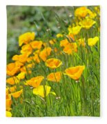 Poppies Hillside Meadow Landscape 19 Poppy Flowers Art Prints Baslee Troutman Fleece Blanket