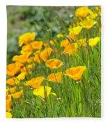 Poppies Hillside Meadow Landscape 19 Poppy Flowers Art Prints Baslee Troutman Fleece Blanket