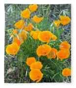 Poppies II Fleece Blanket