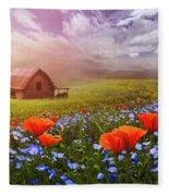 Poppies In A Dream Fleece Blanket