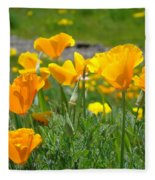 Poppies Meadow Summer Poppy Flowers 18 Wildflowers Poppies Baslee Troutman Fleece Blanket