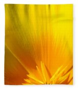 Poppies Orange Poppy Flower Close Up 2 Sunlit Poppy Baslee Troutman Fleece Blanket