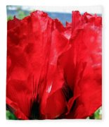 Poppies Plus Fleece Blanket