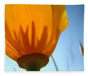 Poppies Sunlit Poppy Flower 1 Wildflower Art Prints Fleece Blanket