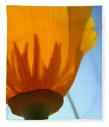 Poppies Sunlit Poppy Flower 1 Wildflower Art Prints Fleece Blanket