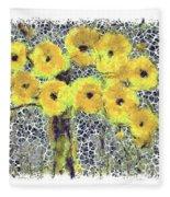 Poppy Bouquet I Pf Fleece Blanket