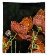 Poppy Drama Fleece Blanket