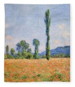 Poppy Field, Giverny Fleece Blanket