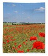 Poppy Fields 1 Fleece Blanket
