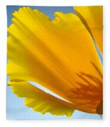 Poppy Flower Art Print Poppies 13 Botanical Floral Art Blue Sky Fleece Blanket