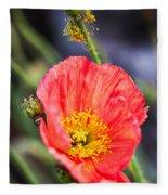 Poppy Flower Fleece Blanket
