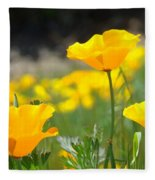 Poppy Flower Meadow 11 Poppies Art Prints Canvas Framed Fleece Blanket