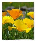 Poppy Flower Meadow 14 Poppies Orange Flowers Giclee Art Prints Baslee Troutman Fleece Blanket
