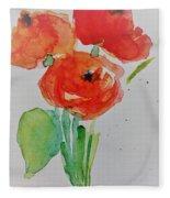 Poppy Flowers 1 Fleece Blanket