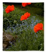 Poppy Foursome Fleece Blanket