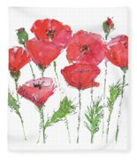 Poppy Garden Fleece Blanket