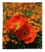 Poppy Glories Fleece Blanket