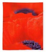 Poppy Heart I Fleece Blanket
