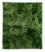 Poppy Leaves Fleece Blanket