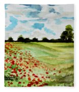 Poppy Meadow Fleece Blanket