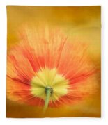 Poppy On Fire Fleece Blanket