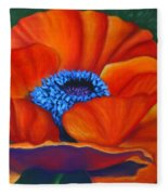 Poppy Pleasure Fleece Blanket