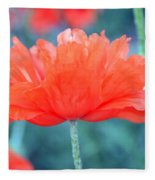 Poppy Profile Fleece Blanket