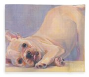 Poppy Puppy Fleece Blanket