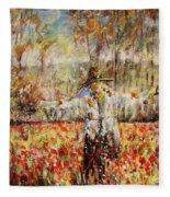 Poppy Scarecrow Fleece Blanket