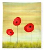 Poppy Sunset Fleece Blanket