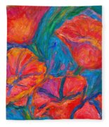 Poppy Twirl Fleece Blanket