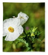 Poppy Wildflower Fleece Blanket