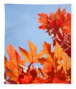 Popular Autumn Art Red Orange Fall Tree Nature Baslee Troutman Fleece Blanket